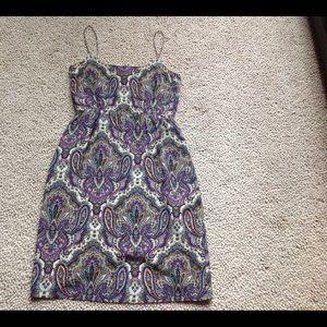 J Crew Silk Paisley Dress